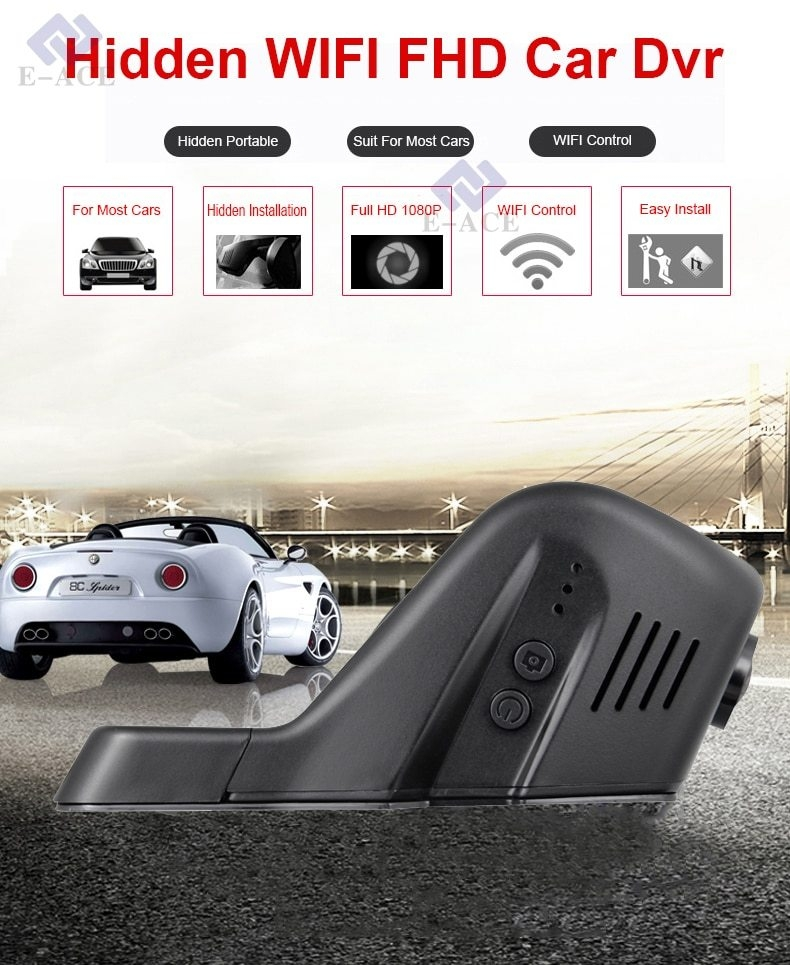 HD 1080P Hidden Wifi Car DVR Camera Video Recorder Dash Cam APP Control AV-OUT