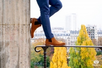 Image result for Boot à gaine daim