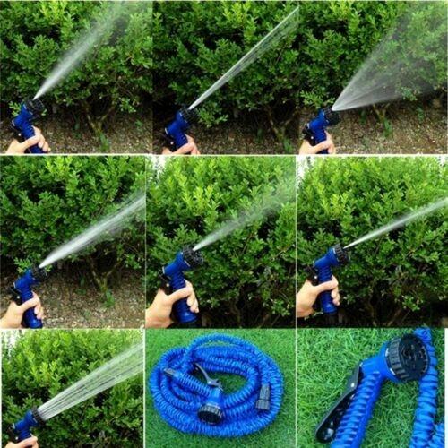 15-M-50-Ft-environ-15-24-m-extensible-Magic-Tuyau-De-Lavage-Voiture-Pistolet-arrosage-jardin-eau