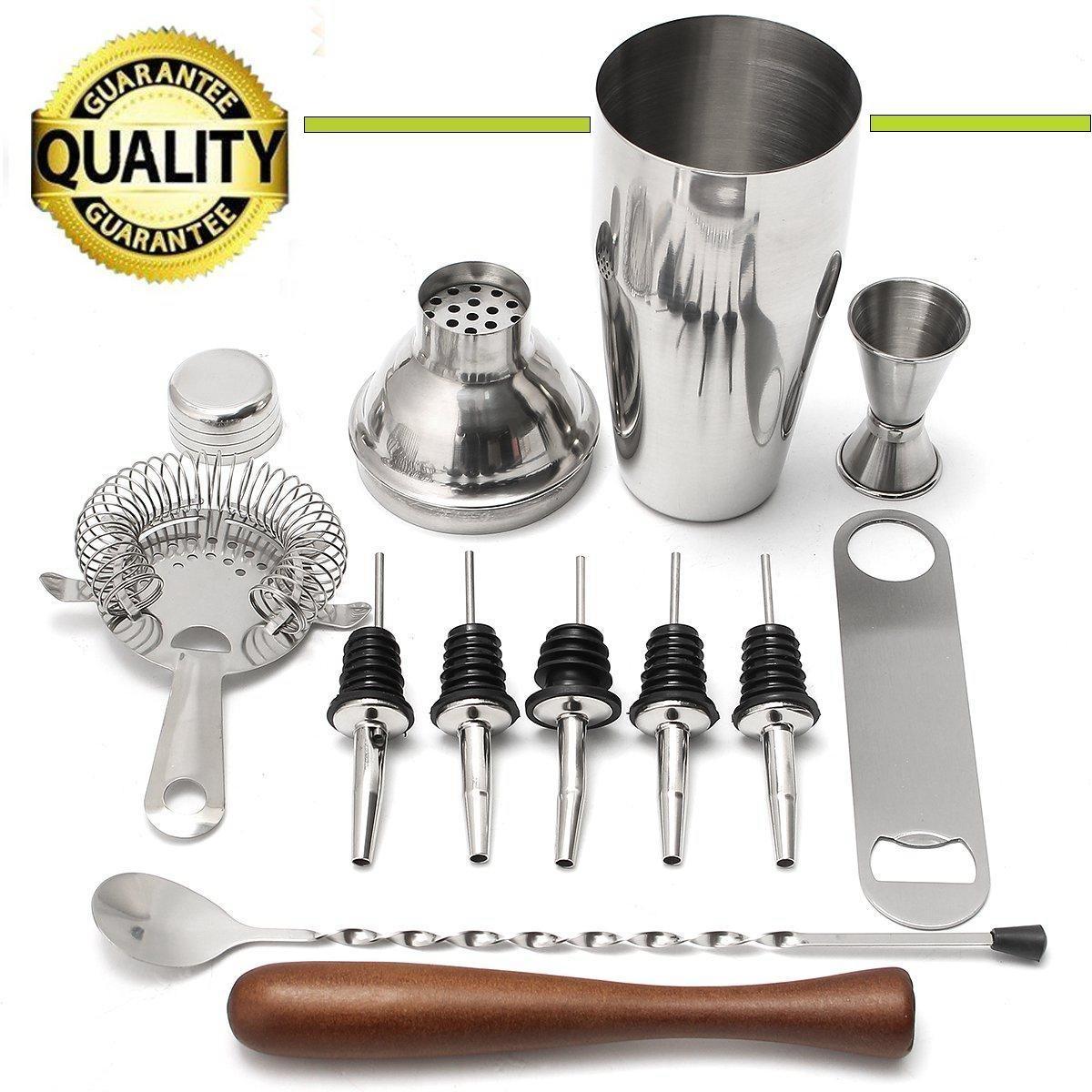 Generic 11pcs 700ml Stainless Steel Cocktail Jigger Mixer