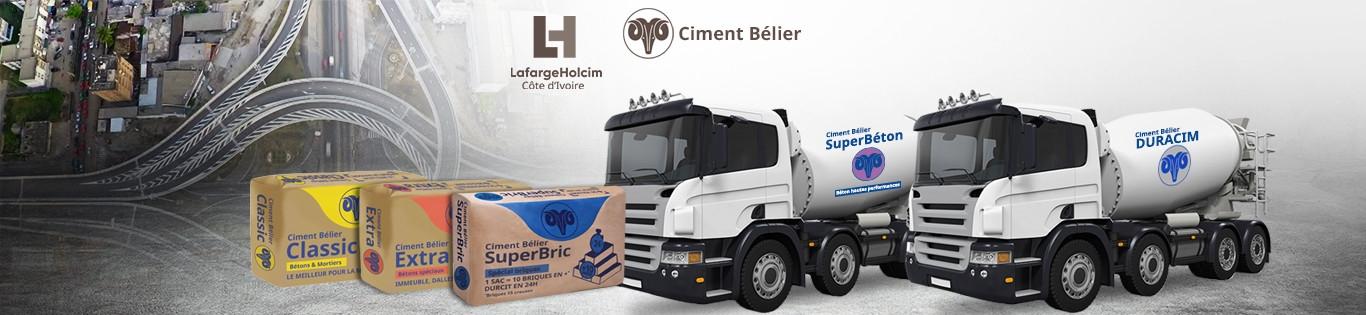 Ciment Bélier Classic 50 Kg X 10 Jaunebleumarron