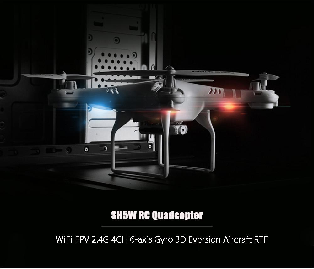 SH5W 2.0MP Camera WiFi FPV 2.4G 4CH 6-axis Gyro RC Quadcopter RTF