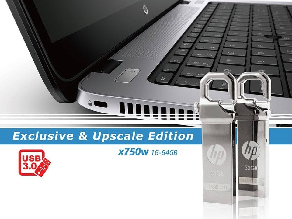 HP x750w USB Flash Drive USB 3.0  32GB 16GB  High Speed Elegant Metal USB Stick 16gb Pendrive Flash Drive Customized Logo Pen drive   (3)