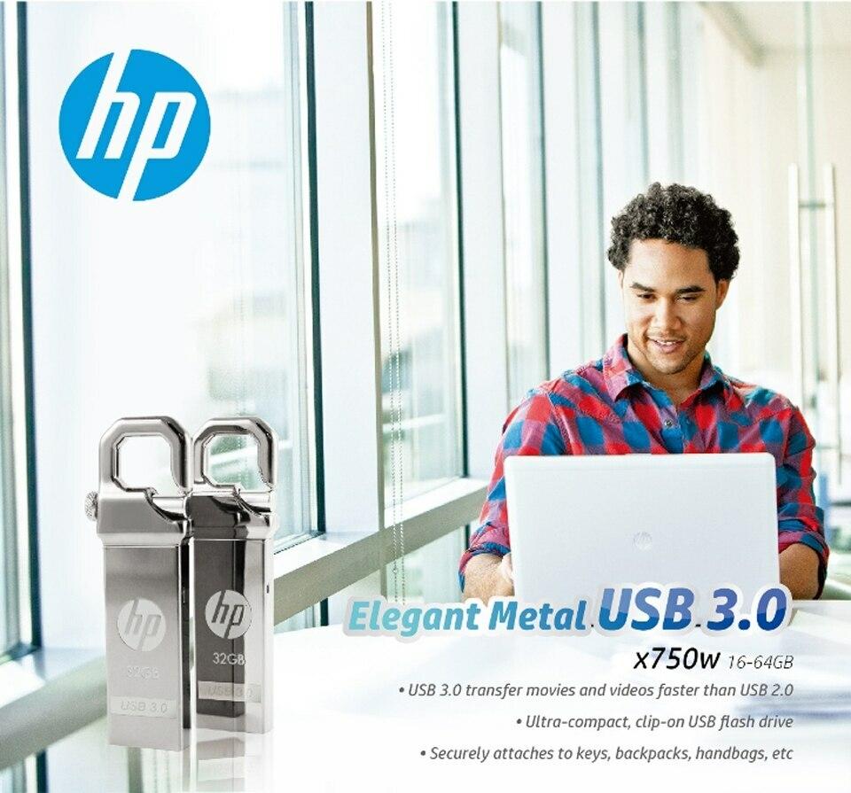 HP x750w USB Flash Drive USB 3.0  32GB 16GB  High Speed Elegant Metal USB Stick 16gb Pendrive Flash Drive Customized Logo Pen drive   (8)