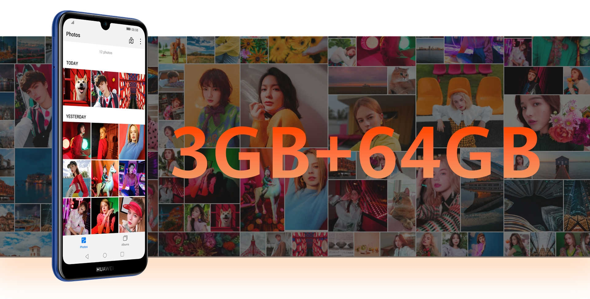 grand téléphone de stockage huawei y6s