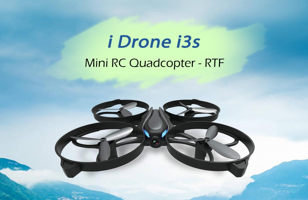 i Drone i3s Mini RC Drone RTF 2MP Camera / Headless Mode / One Key Return