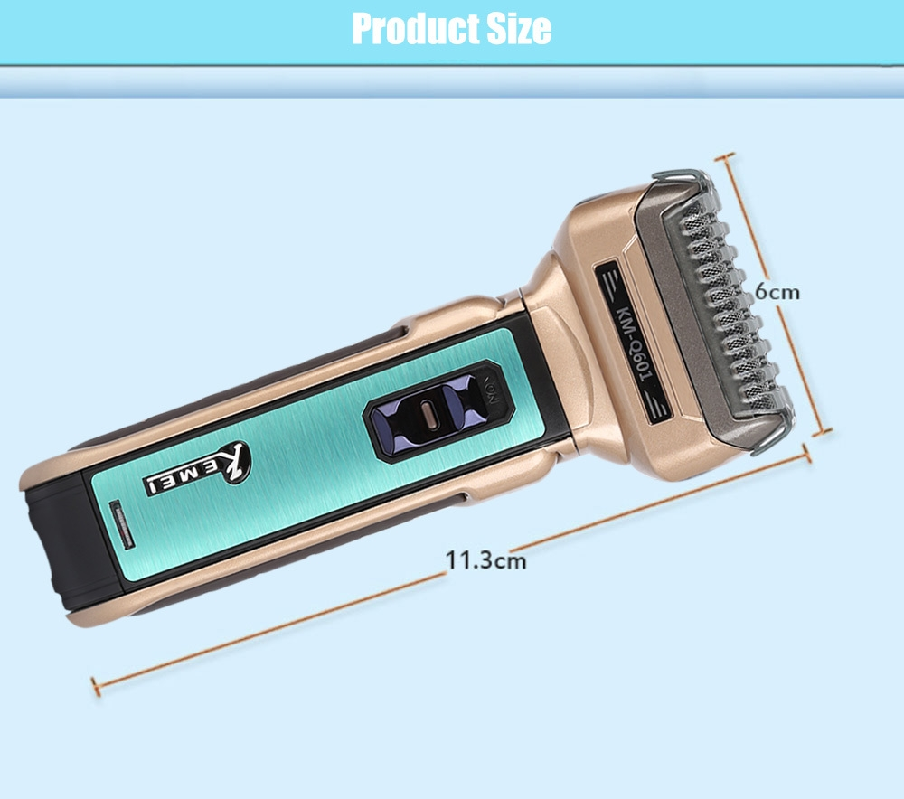 Kemei KM - Q601 Reciprocating Electric Shaver Travel Use Safe Razor for Men