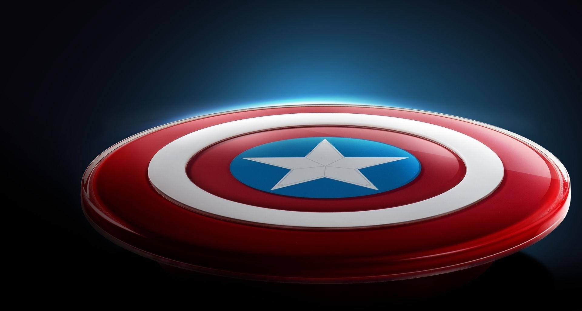 Un chargeur à l'effigie du bouclier de Captain America