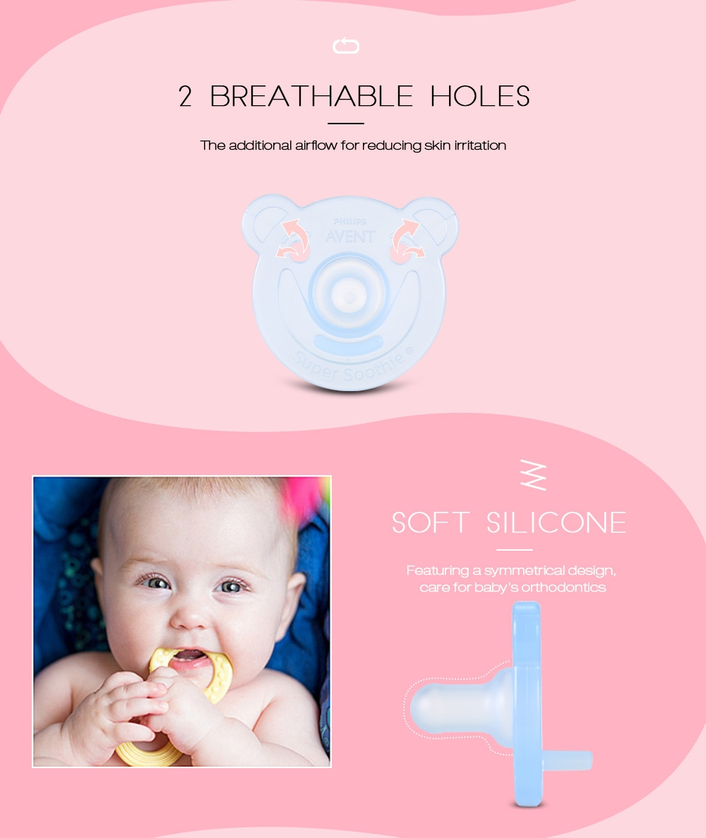 Philips Avent SCF194/04 2pcs Baby Nipples Pacifier Silicone BPA Free Soother