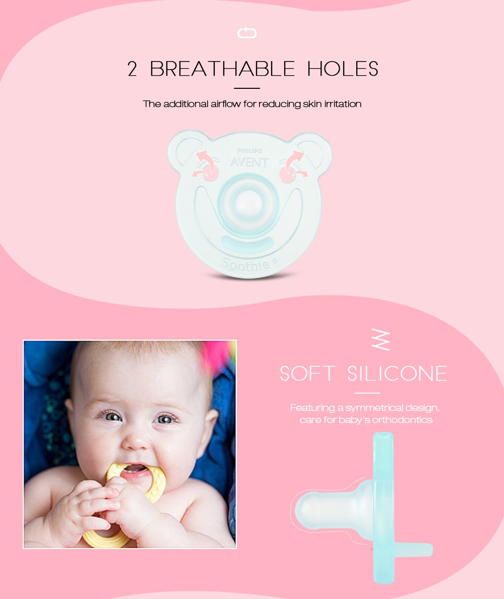 Philips Avent SCF194/01 2pcs Silicone Nipples Baby Soother Toddler Pacifier