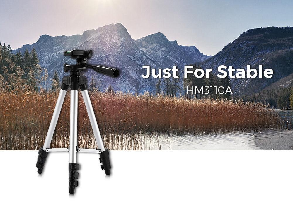 HM3110A Camera Camcorder Flexible Three-way Head Tripod