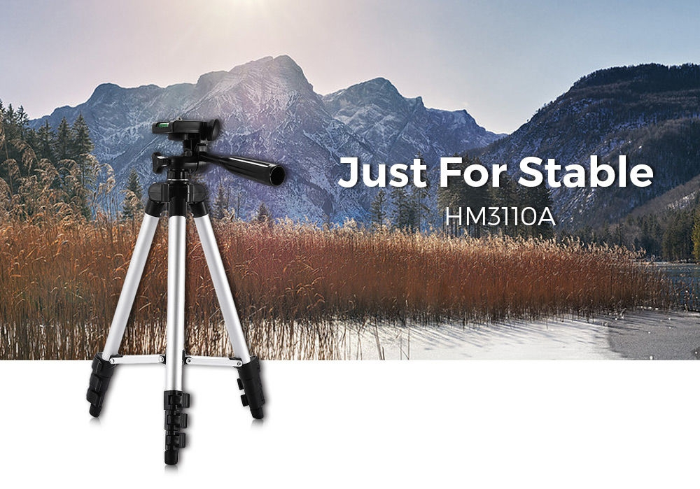HM3110A Camera Camcorder Flexible Three-way Head Tripod