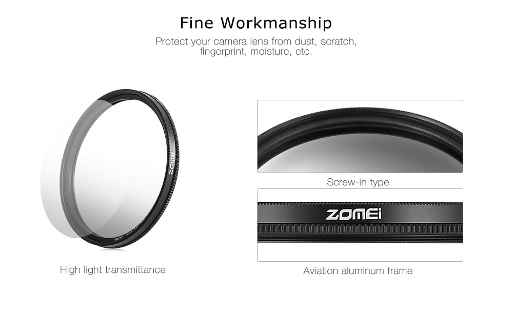 Zomei GC - SLIM Professional 62mm Graduated Color Filter for Canon Nikon DSLR Cameras Lens