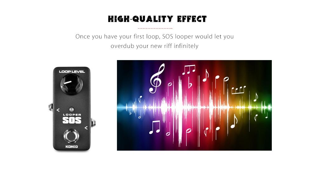 Flanger Looper SOS Guitar Effect Pedal True Bypass Aluminum Alloy Housing