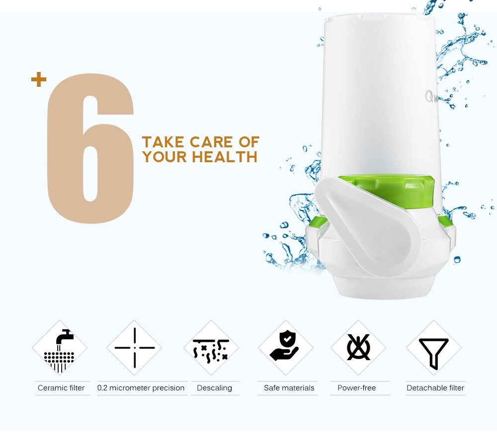 Qwater Ceramic Filter Tap Water Purifier