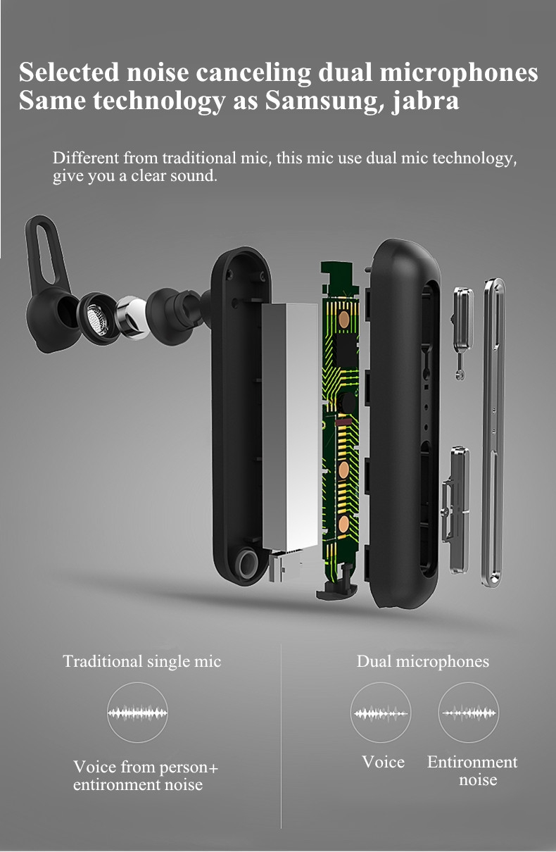 QCY Q30 4.2 Wireless Bluetooth Earphone With Dual Noise Canceling Mic 20h Talk time