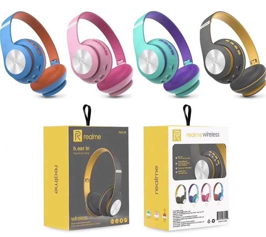 Realme RMA 66 Wireless Bluetooth Headphone - Earphones & Headphones