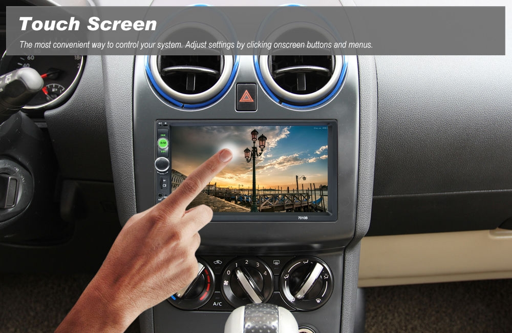 Rectangle 7010B 7 inch Bluetooth FM Radio Car MP5 Player with Remote Controller