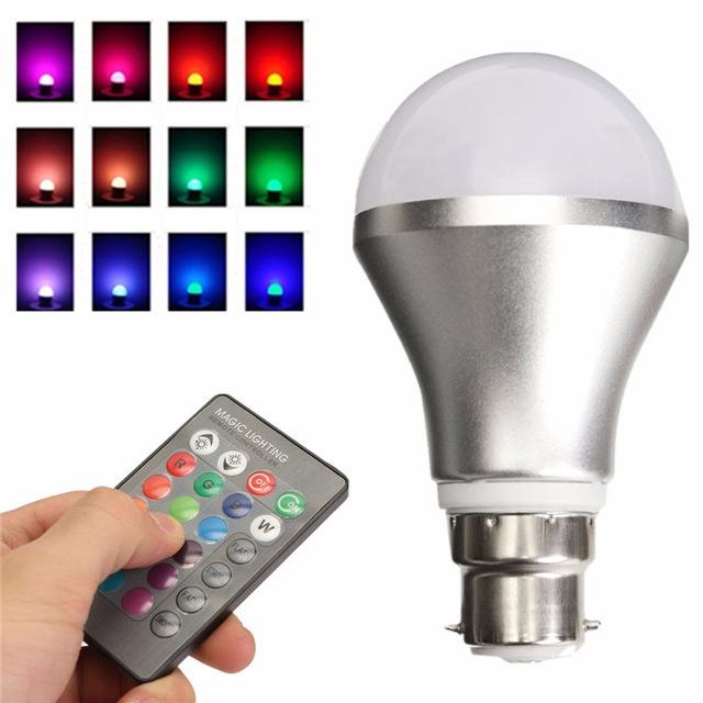 sans tache packs de 5 ampoule led multicolore avec t l commande et 16 couleurs au c te d 39 ivoire. Black Bedroom Furniture Sets. Home Design Ideas