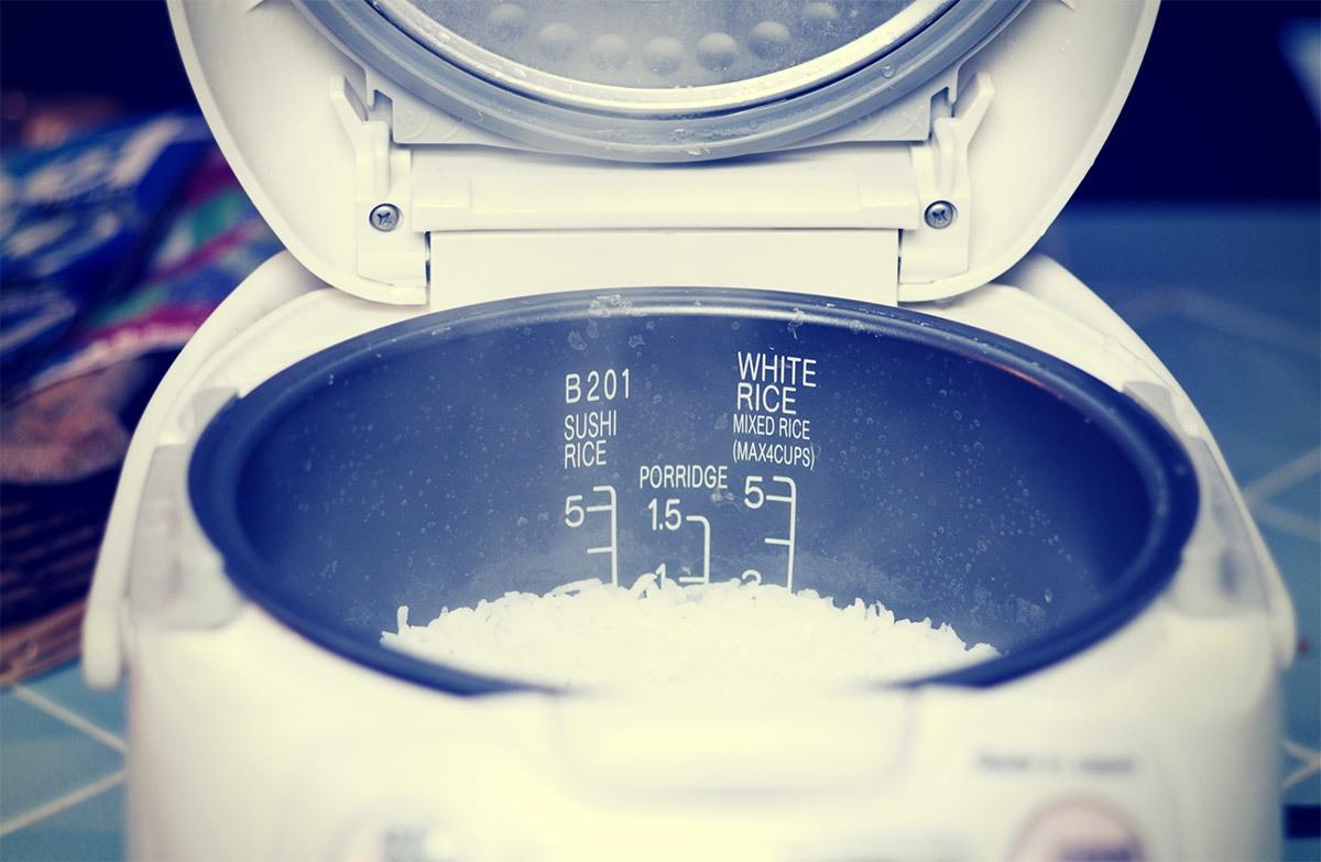 Image result for riz cuit à la machine