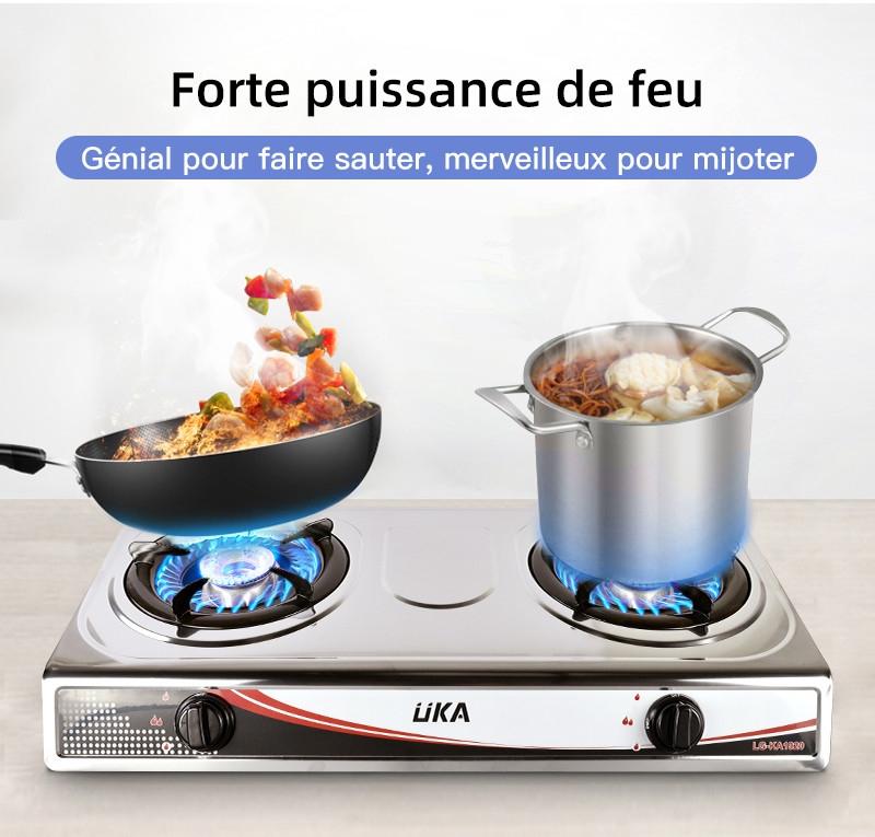 Uka Cuisinière A Gaz De Table Double Brûleur By Haier