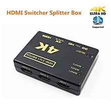 mini hdmi amplifier switch, 3 ports 4k*2k switcher splitter box ultra hd for dvd hdtv xbox ps3 ps4(hdmi switch)