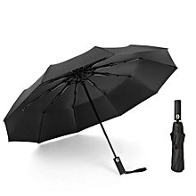 auto open/close windproof travel umbrella with uv protection tefloning coating 10 ribs automatic canopy 23inch folding umbrella