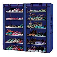 shoe cabinet armoire chaussures de grande capacit 36 paires bleu