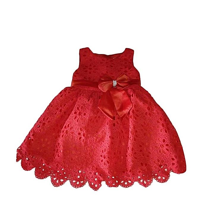 e8ea55e271f95 Fashion Vêtement Enfant - Robe Fillette - Rouge - Prix pas cher ...