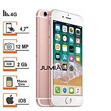 iphone 6s plus - 5.5 pouces - 4g lte - 64 go - 2go ram- 12mpx - or rose + protège offert- reconditionné - garantie 12 mois