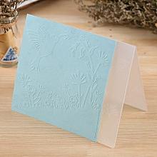 plastic embossing folder for scrapbook diy album paper card tool template 15.5x15.5cm / 6x6inch