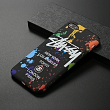for iphone 8 plus & 7 plus paint pattern luminous protective back cover case