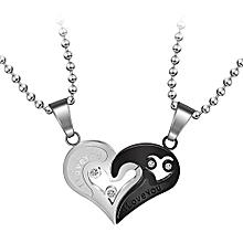 c6099381423 Best Couple Chain Necklaces Pendant Lover Valentine  039 s Gift 1Pair