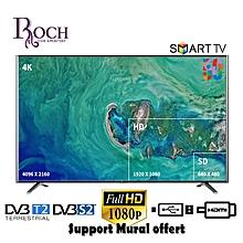 ROCH TV LED - 50 Pouces - SMART FULL HD - HDMI - VGA - Décodeur Intégré - Noir - 12 Mois Garantie