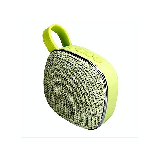 Generic Speaker Portable Handheld Cloth Art  FM Radio Bluetooth Speaker Tfcard Wireless Speaker-green au Côte d'Ivoire à prix pas cher     Côte d'Ivoire