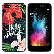 itel s32 (3pcs x phone case) silicone case, tpu anti-knock phone back cover for itel s32 - multi-color(red flowers+watercolorful flowers+purple quartz)- jgci