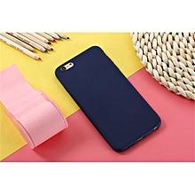 pour iphone 6 6s coque iphone simple solide couleur ultrathin coques douces couleur bonbons couverture arrière-bleu marine