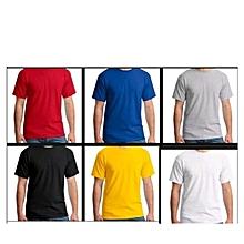 18ddca81bb597 Lot De 6 Tee-shirts - Homme - Noir Blanc Gris Bleu
