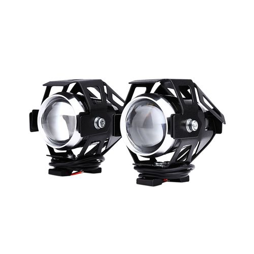 Phares De Motocyclette (2 Pièces) 125W 12V 3000LM U5 LED - Noir