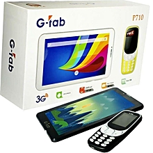 g-tab tablette p710 - dual sim - 7 pouces - 2 megapixels - 8 go - 512 ram - multicolore