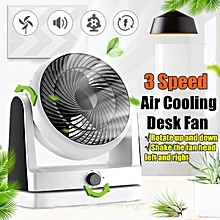 3 speed adjustable portable air circulator table desk fan quiet usb home office