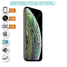 "iphone xs max - 6.5"" - ios 12 - 4g - 64 go - ram 4 go - 12 mpx - id face - gris espace - garantie 12 mois"