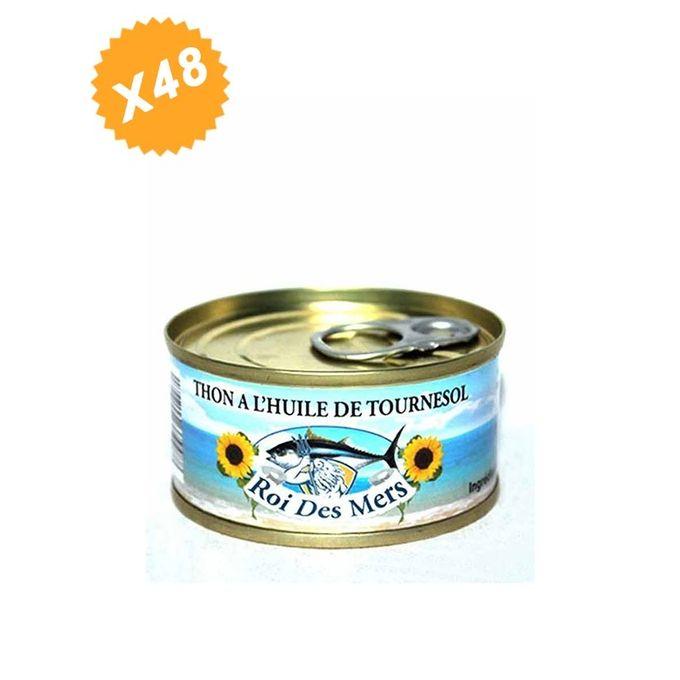 Lot De 48 Boites De Thon à L'huile De Tournesol 80G Roi Des Mers - Miettes