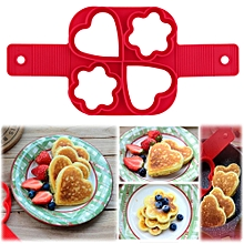 modish fantastic fast & easy way to make perfect cooking four holes diy pancakes tool red