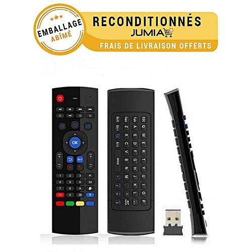 accessoire utileair mouse t l commande clavier souris pour smart tv pc tv box noir. Black Bedroom Furniture Sets. Home Design Ideas