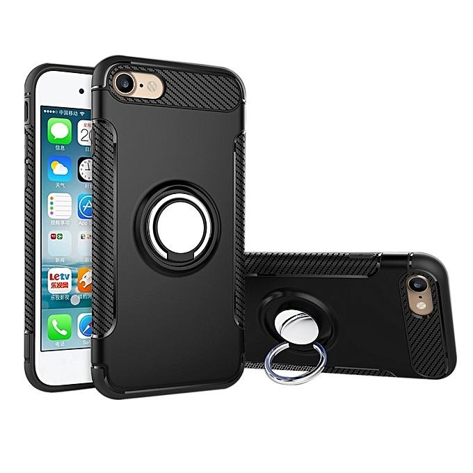 Generic For IPhone 6 & 6s Magnetic 360 Degree Rotation Ring Armor Protective Case(Black) au Côte d'Ivoire à prix pas cher  |  Côte d'Ivoire