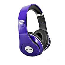 headset feinier fe-15 wired foldable headset stereo headphone earphone for iphone pp-purple
