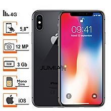 iphone x - 4g lte - 5.8 pouces - 3go ram - 256go rom -space gry (gris) - garantie 12 mois