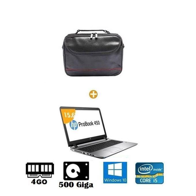 hp pc ordinateur portable hp probook 450 g3 15 6 pouces intel core i5 500 go 4 go ram. Black Bedroom Furniture Sets. Home Design Ideas