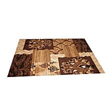 tapis marocain 133 cm x 190 cm.- marron/beige